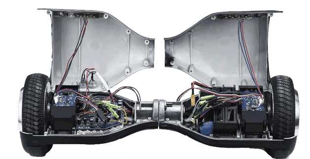 there are 18 screws you have to undo to open your hoverboard