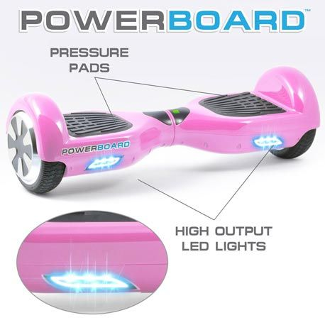 A pink hoverboard is perfect for any girl