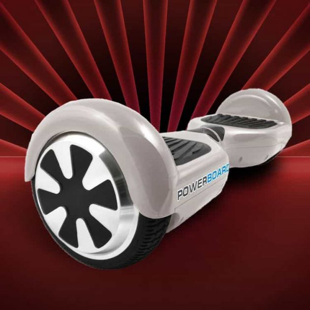 White powerboard hoverboard