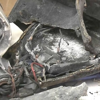 The hoverboard fire was nearly successful in burning down it's owner's house.