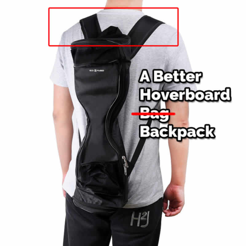 the hoverboard backpack is the best way to carry a dead hoverboard